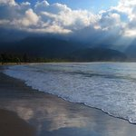 Another gorgeous sky at Hanalei Beach