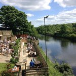 our stunning riverside beer garden which comes complete with an outside bar