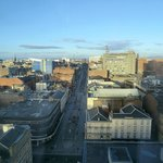 Sauchiehall Street in the sunshine from 11th floor room