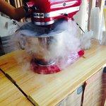 Preparación de los helados