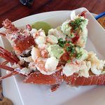 Stuffed lobster as an appetizer. Hope your hungry for the main course.
