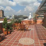 the roof terrace - BYO with views