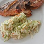 Red snapper and coleslaw