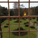 View from Room 11, the gardens to the rear of the house.