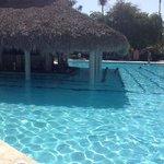 Pool and swim up pool bar