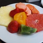 Les fruits frais du buffet