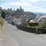 Lower Oakfield - our house on the right has view over the valley to the hills
