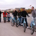 Students from Minnesota on Blue Bike Tour in Paris