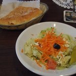 Turkish salad and nice hot bread