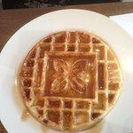 Waffle freshly made