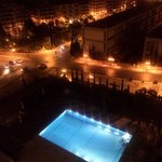Hotel swimming pool at night! Pic taken from room balcony