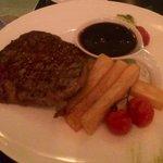 Steak, chips & THE SAUCE! Yum Galaxy bar