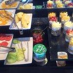 Breakfast fruits & yoghurts... Lovely!