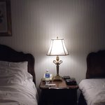 Lamp between the twin beds