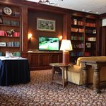 Library watching Accenture Match Play. Room not ready