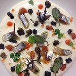 crema di burrata e sardine di lago