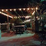Patio dining - pretty lights