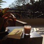 Sunday morning tea on the common balcony