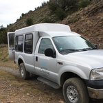vehicle used to access Fossil Canyon hike