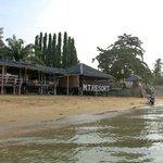 ชายหาดกับห้องอาหาร