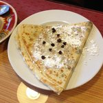 crepe with chocolate chips