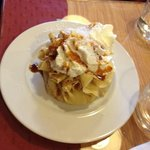 crepe with pineapple, coconut and caramel