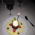 Chocolate Hazelnut with a vanilla crème anglaise