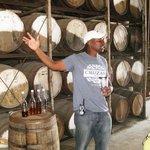 Norman explains the distillery process