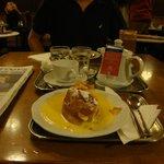 Cafe Sperl's apple strudel with vanilla sauce