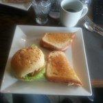 3 sandwich halves