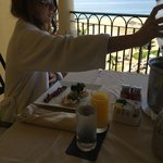 Room service breakfast on our balcony