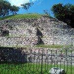 One face of the main pyramid, Izamal