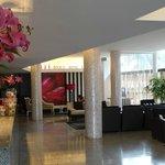 Lovely lobby area - free perfume!