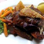 Entree - pork roast with cracklin
