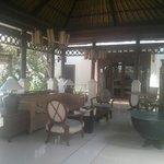 Living room in the villa