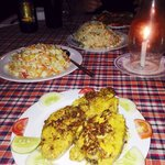 Delicious fish and side dishes