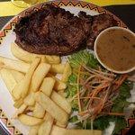 Limousin beef with mushroom sauce
