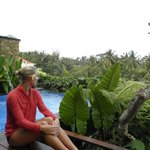 Our private pool over looking the rice fields