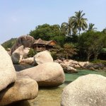 Sai Thong bungalow on the rocks