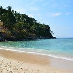 plage en marée haute