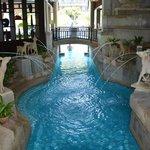 petite fontaine en deux piscines