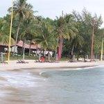 la plage et les villas beachfront