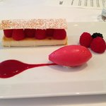 Raspberry & creme brulee