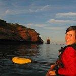 Activité de kayak de mer sur place