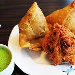 Delicious Punjabi Samosas & Onion Bhaji