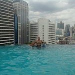 Me with kids at Infinity Pool