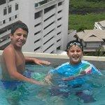 Kids at Infinity Pool