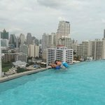 Wife & Kids at Infinity Pool