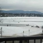This was our view of Lake Placid from our king room with oversized balcony