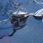 AWESOME AERIAL VIEW ON SCHILTHORN AS SEEN FROM OUR HELICOPTER ROBINSON R-44 CLIPPER II, FEB 2014